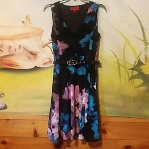 Jennifer Lopez floral dress with belt